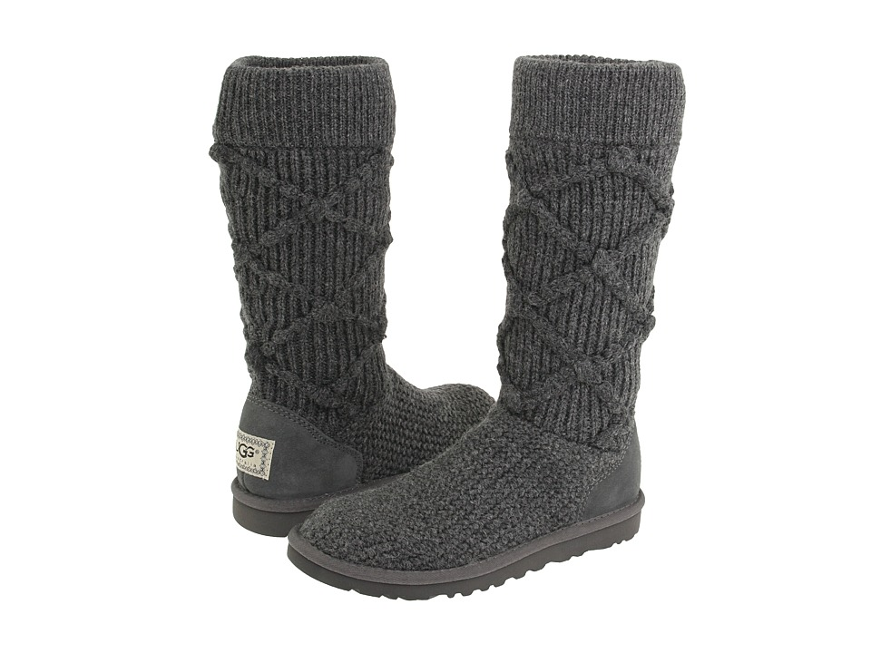gray knit uggs