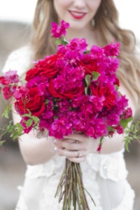 fuchsia red bouquet